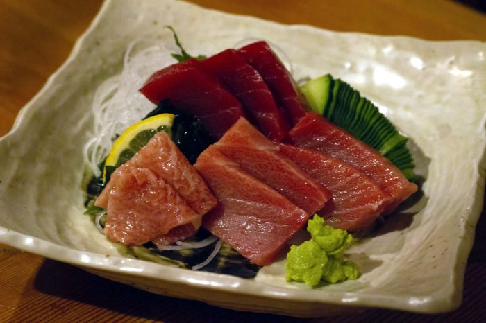 menu omakase sashim